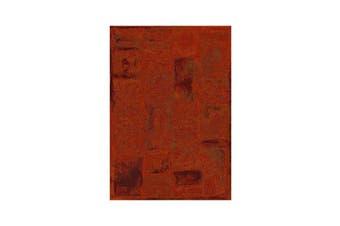 Eclipse Red Orange Polypropylene Rug - 80cm  x 30m