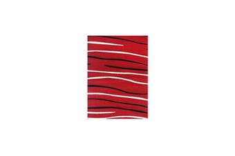 Allure Modern Abstract Stripes Red Rug - 80x300cm