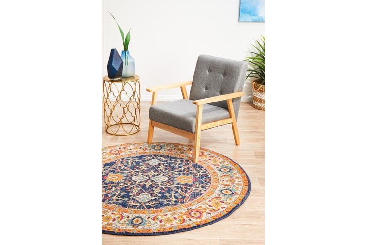 Evoke Round Splash Multi Transitional Rug - 240X240CM