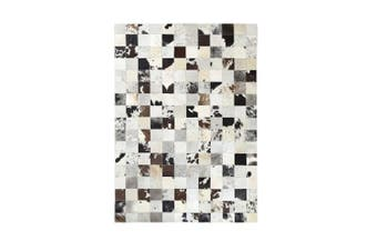 Leather Jersey Squares Rug 160x230 Cm