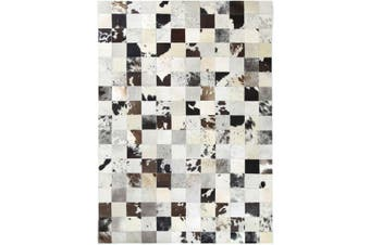 Sky Leather Jersey Squares Rug - 160x230 cm