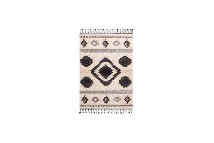 Fez White Tribal Rug - 240 x 330 cm