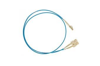 Lc Sc Om4 Multimode Fiber Optic Cable Blue - 1 m