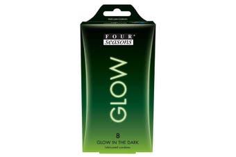 Glow N' Dark Condoms - Glow In The Dark Lubricated Condoms - 8 Pack