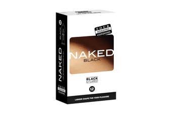 Four Seasons Naked Black - Ultra Thin Black Condoms - 12 Pack