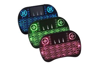 i8 Mini Wireless Keyboard with Lights - two pack