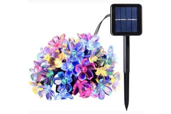 50 LEDS Peach Blossom Flower Solar Lamp