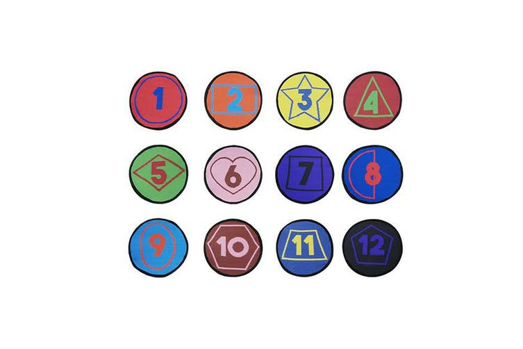 Numbers Colours Shapes Set Of 12 Seating Mats