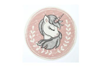 Nova Kids Sleeping Unicorn Round Pink Rug
