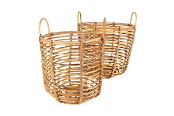Ralu Rattan Baskets Set Of 2