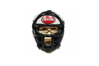 Morgan Small Leather Head Guard With Abx Plastic Removable Grill