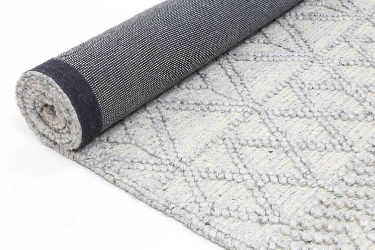 Kaiden 2000 Grey Wool Rug - 200x290 cm