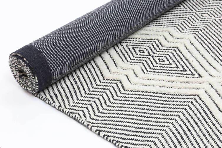 Kaiden 1000 Ivory Wool Rug - 300x400 cm