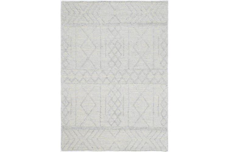 Kaiden 2000 Grey Wool Rug - 80x300 cm