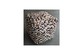 Holy Cow Ottoman Hand Stitched Pouffe
