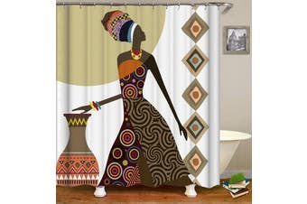 African Tribe Lady Shower Curtain