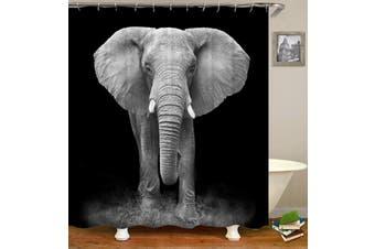 Black And White Elephant Photoshoot Shower Curtain