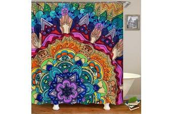 Colorful Mandala Animal Painting Shower Curtain
