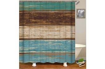 Shabby Chic Wooden Deck Shower Curtain