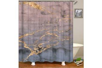 Golden Dark Marble Shower Curtain