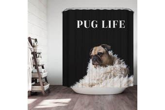 Cute Dog Pug Life Shower Curtain