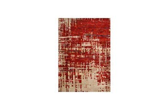 Issey Red White Rug