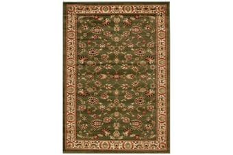 Istanbul Collection Traditional Floral Pattern Green Rug - 300X80CM
