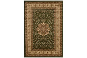 Istanbul Collection Medallion Classic Pattern Green Rug - 330X240CM