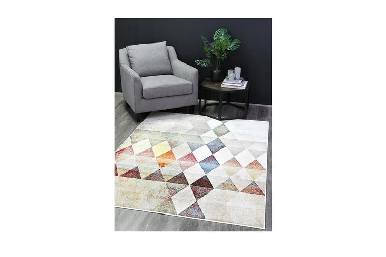 Madison Tribal Diamond Multi Rug - 155x220cm