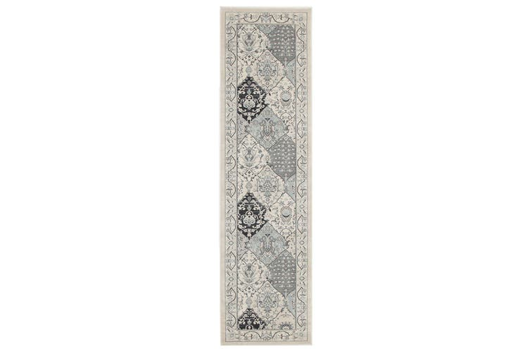 Jewel Blue Navy Grey Rug - 230X160CM