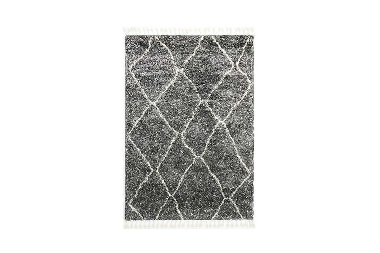 Kasbah Maxen Tribal Grey Rug - 200x290cm
