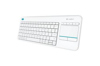 Logitech K400 Plus White Wireless Keyboard With Touchpad