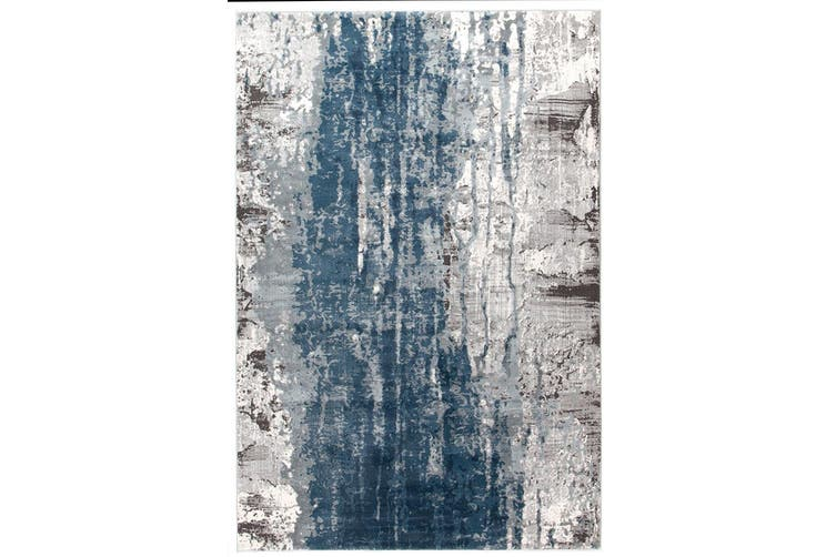 Kendra Roxana Distressed Timeless Blue Grey White Rug - 330X240CM