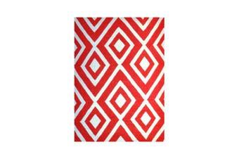 Kenitra Point Red Rug - 160 x 220 cm