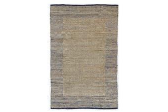 Mahal Boarder Jute Blue Rug - 150x220cm