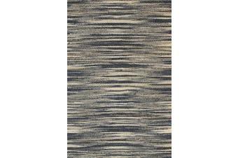 Malmo Stipe Natural Jute Grey Rug - 240x330cm
