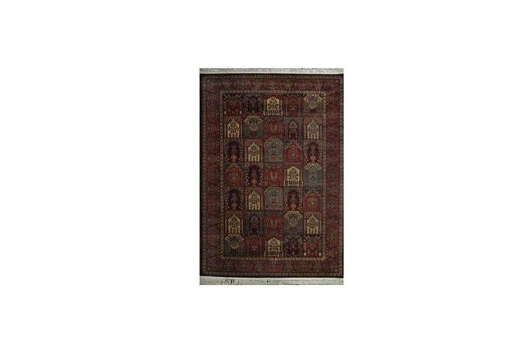 Maori Brick Red Traditional Rug - 80CM CONT