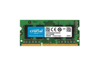 Crucial 4GB DDR3 SODIMM 1600MHz Single Stick Notebook Memory RAM