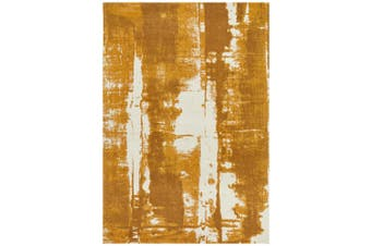 Magnolia Abstract Mustard Rug - 225X155CM