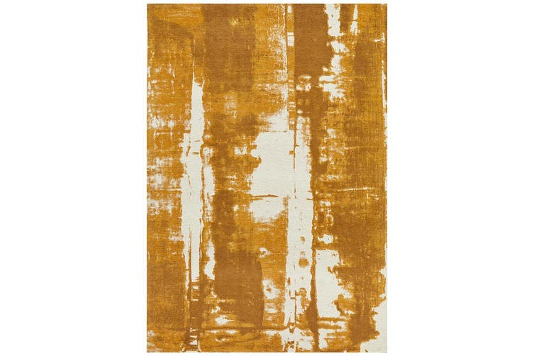 Magnolia Abstract Mustard Rug - 320X230CM