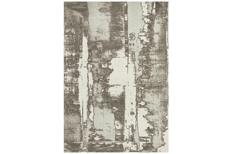 Magnolia Abstract Silver Rug