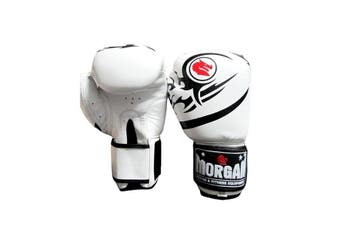 Morgan Elite Boxing And Muay Thai Leather Gloves White