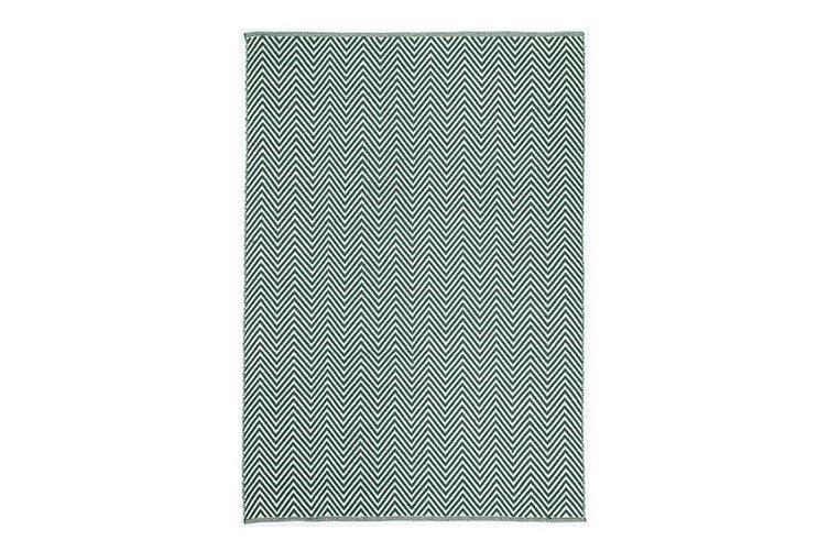Natura Wool Green Chevron Rug - 120x170 cm