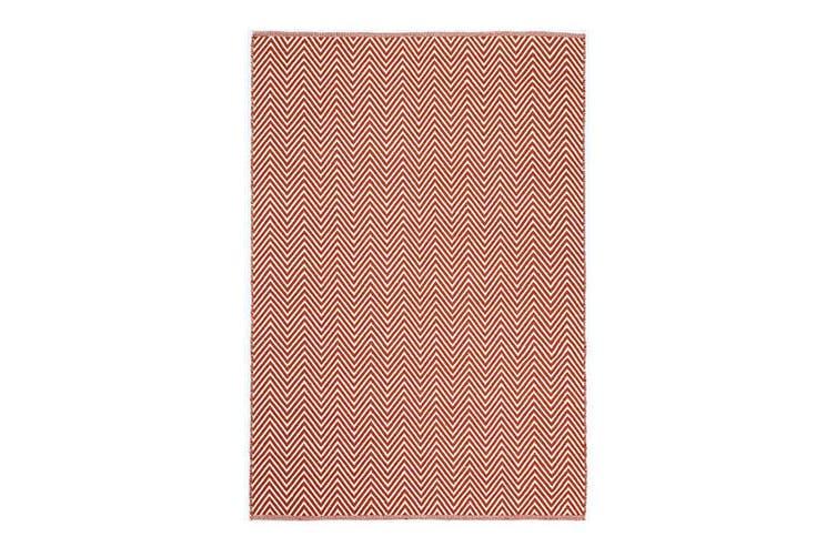Natura Wool Orange Red Chevron Rug - 120x170 cm