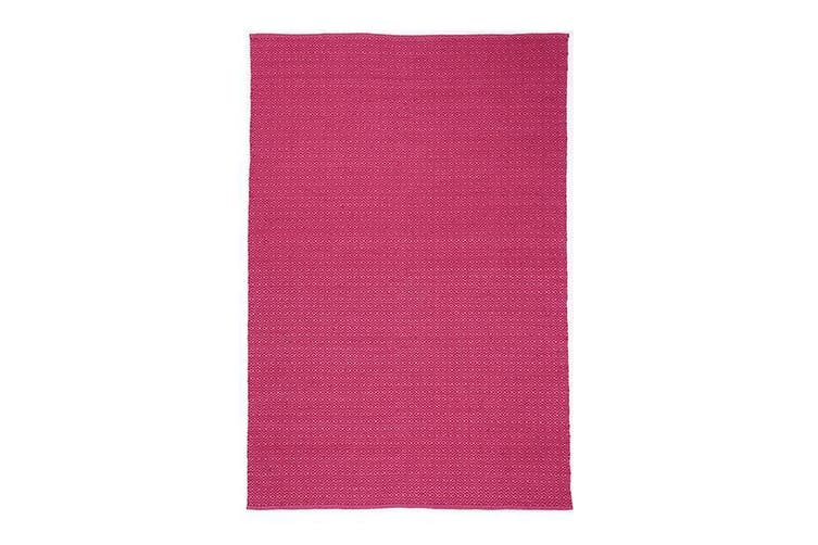 Natura Wool Hot Pink Diamond Rug - 160x230 cm