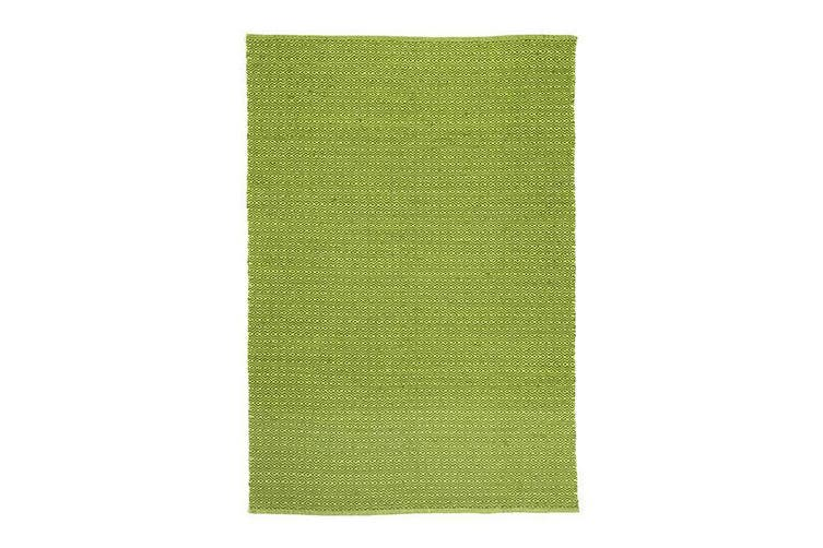 Natura Wool Bright Green Diamond Rug - 160x230 cm