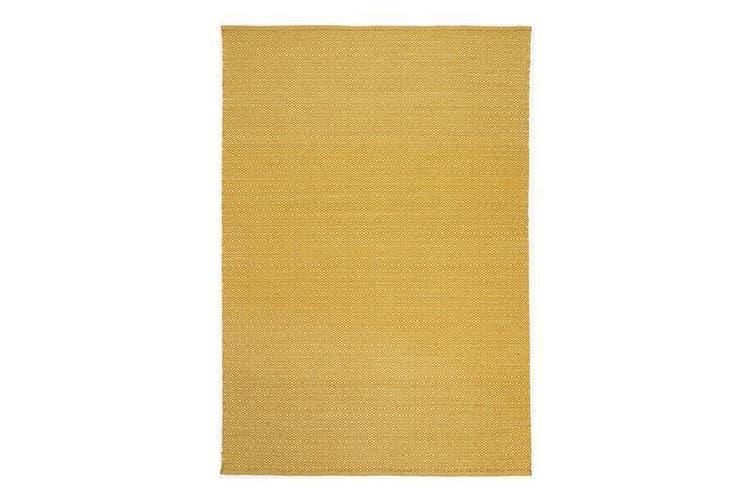 Natura Wool Yellow Diamond Rug - 160x230 cm