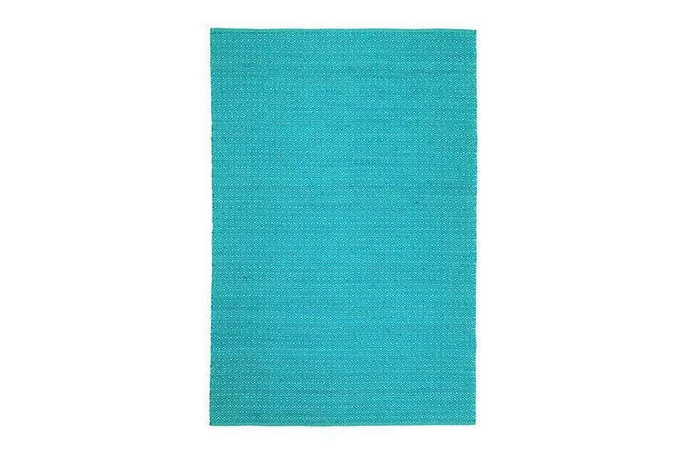 Natura Wool Turquoise Blue Diamond Rug - 160x230 cm
