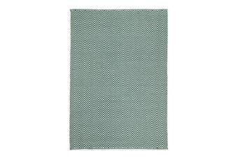 Natura Wool Green Chevron Rug - 160x230 cm