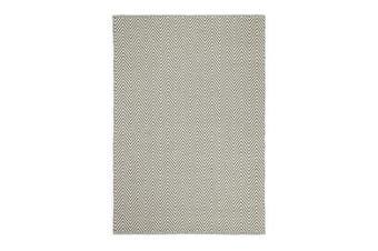 Natura Wool Fog Beige Chevron Rug - 160x230 cm